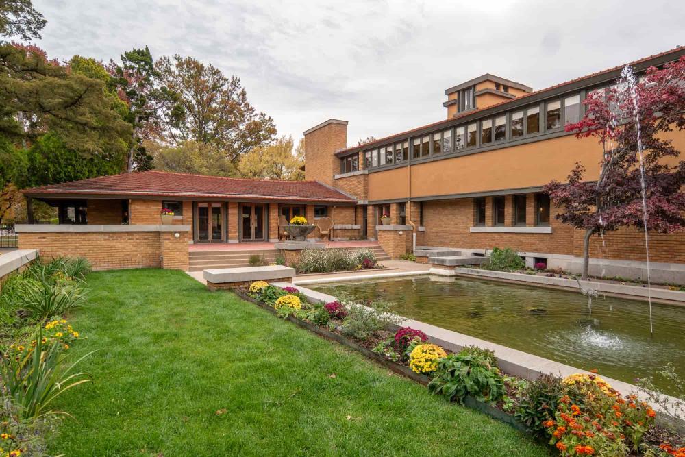 Inner Garden at Frank Lloyd Wright's Allen House