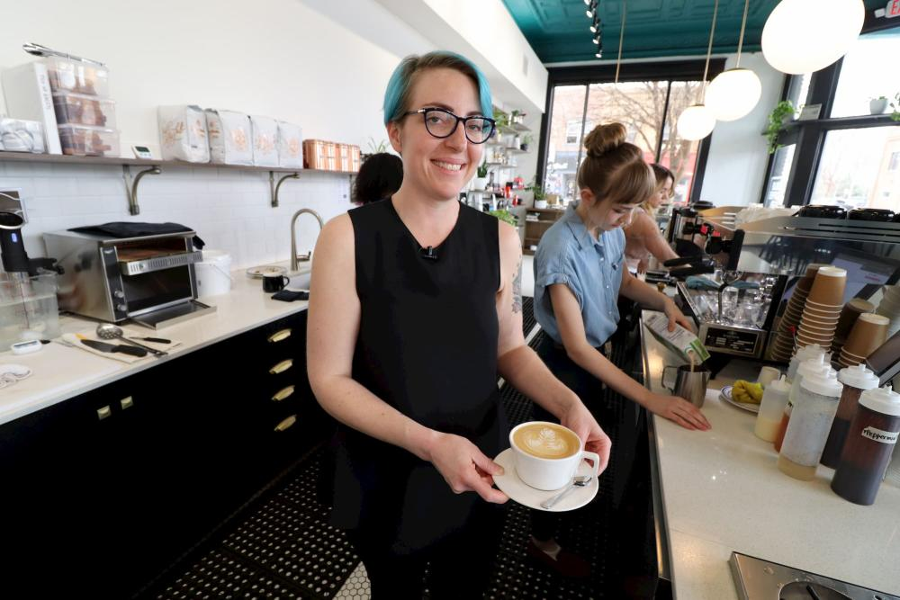 Sarah Leslie at Leslie Coffee Co.
