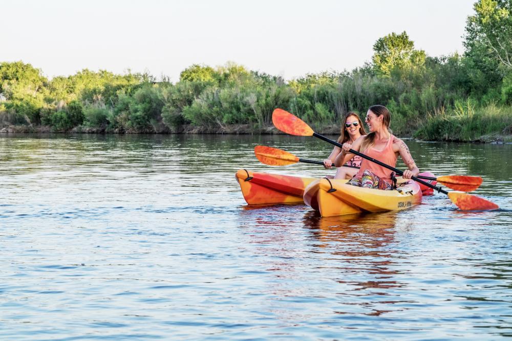 Kayaking the Colorado River in Yuma, Arizona