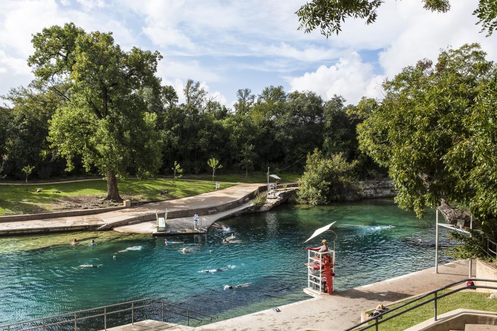 Barton Springs Pool.