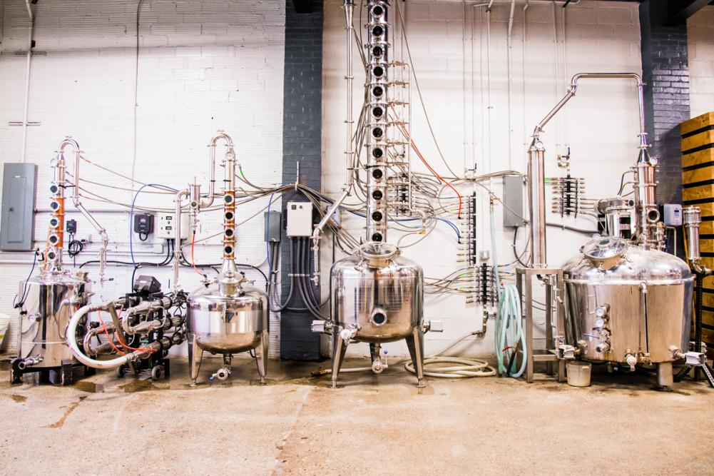Three Rivers Distilling Company Stills in Fort Wayne, Indiana