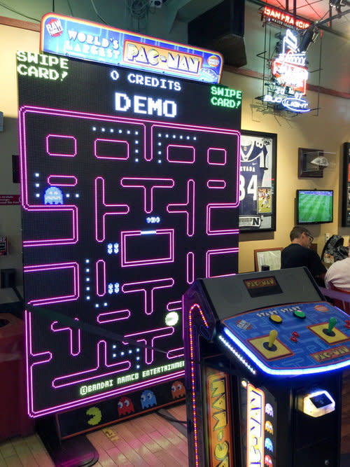 Life Size Pac Man at Player's Sports Grill & Arcade