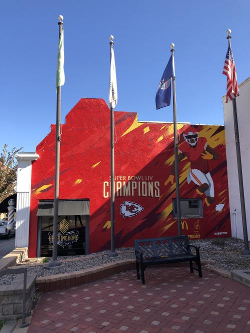 Chiefs Mural in Downtown Overland Park