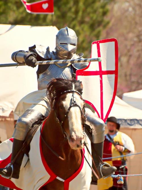 Knight Jousting at the Great Plains Renaissance Fair in Wichita