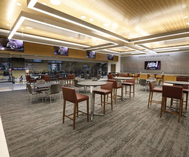 Interior of the Castro Suite at the Texas State University Event Center