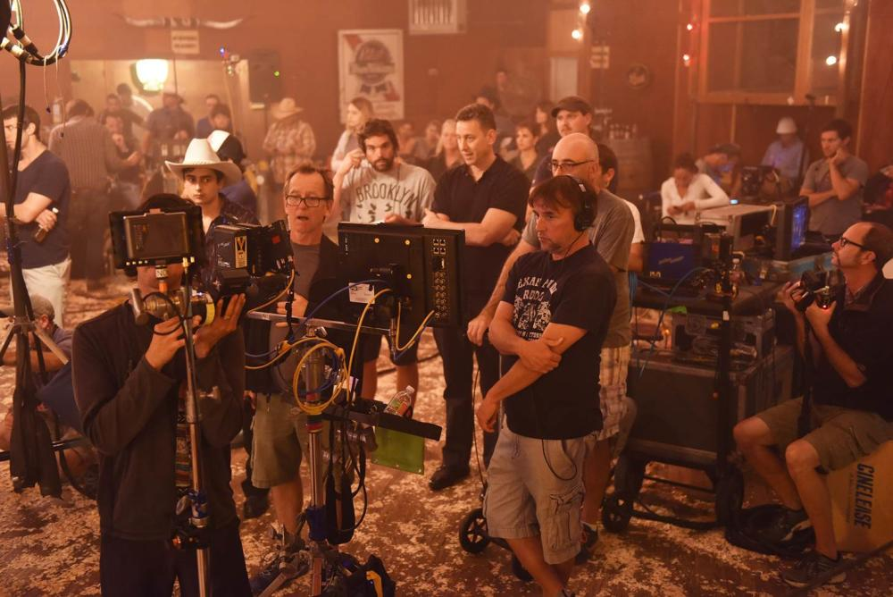 Richard Linklater on set for everybody wants some film