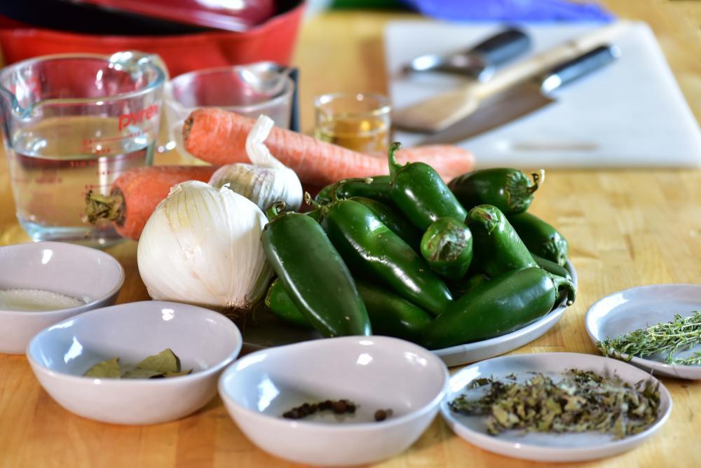 Ingredients for recipe from El Naranjo