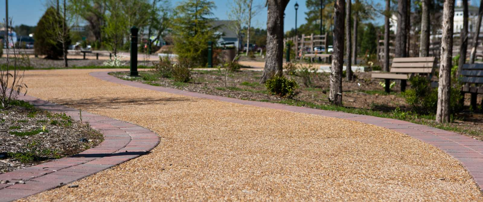 Brick-lined Interpretive Trail at Battlefield Park in Chesapeake, VA