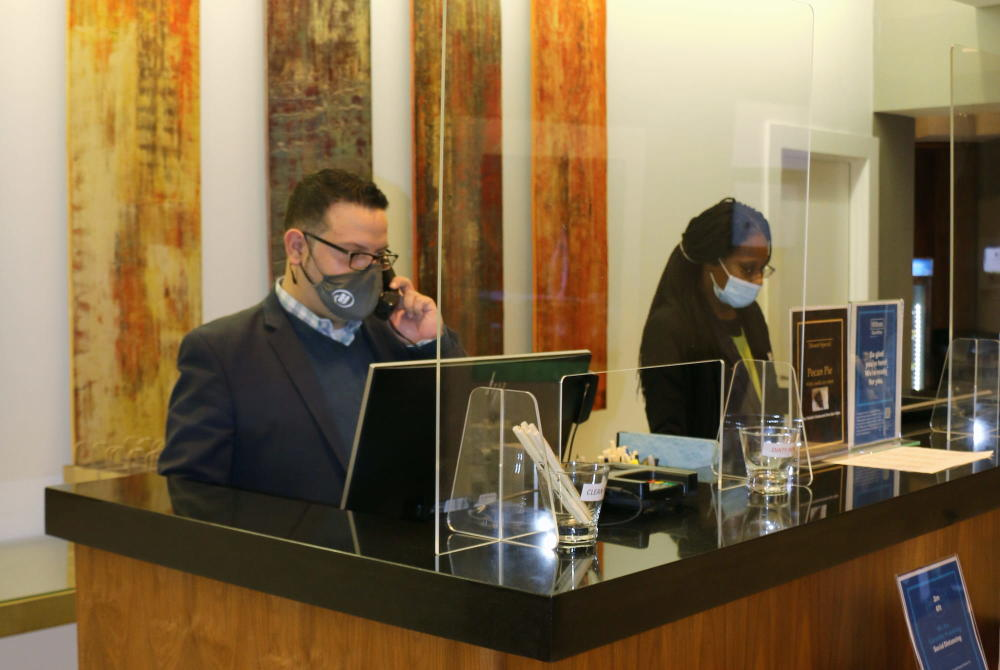Front Desk and Reception at Doubletree by Hilton Wichita Airport