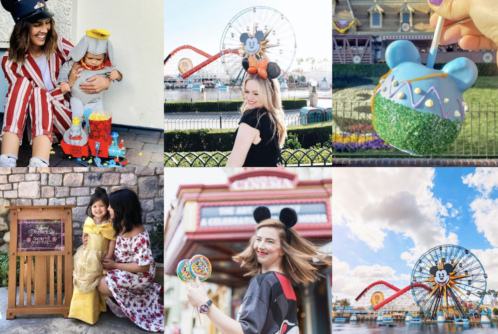 Collage of Disney Influencers