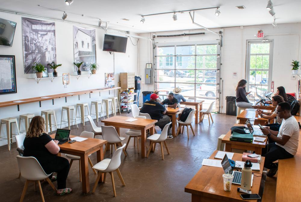 Grind AVL is Asheville's first Black-owned coffee shop.
