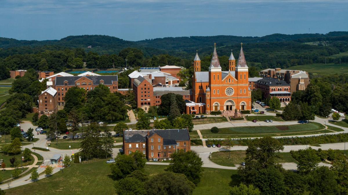 Overlooking Saint Vincent College campus