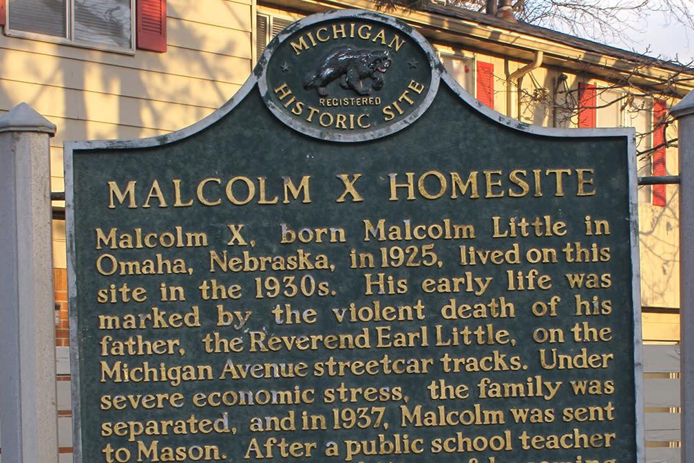 Malcom X Homesite Marker
