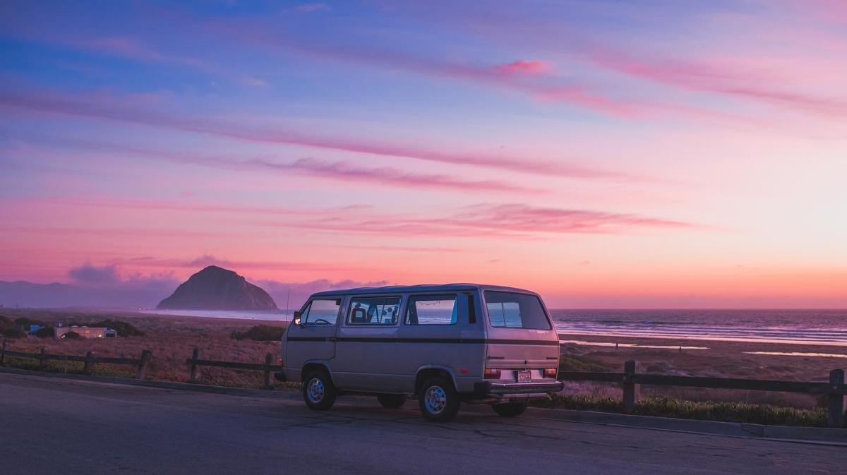 Van at Morro Bay