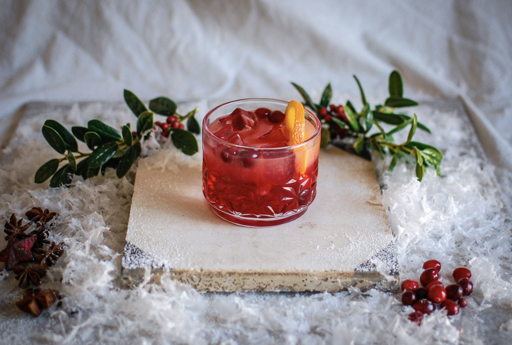 Holiday cocktail from Contigo Catering in Austin Texas