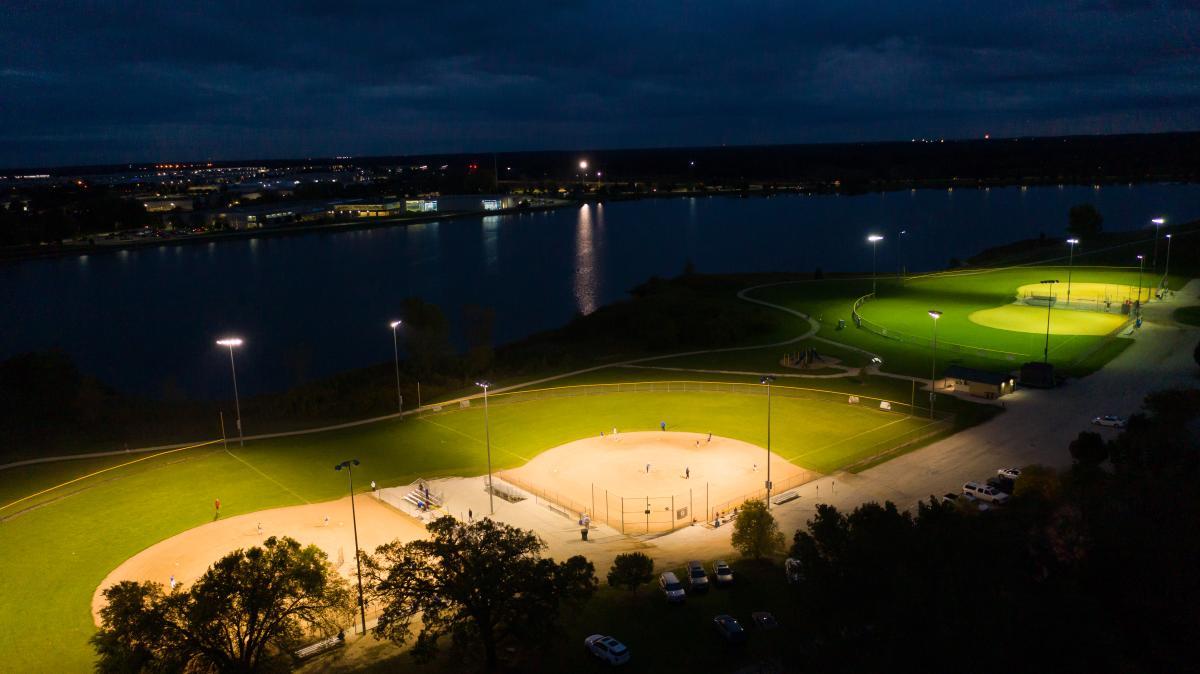Pleasant Prairie RecPlex North Ball Fields at Night
