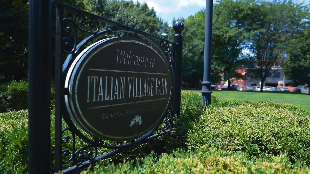 Italian Village Park sign