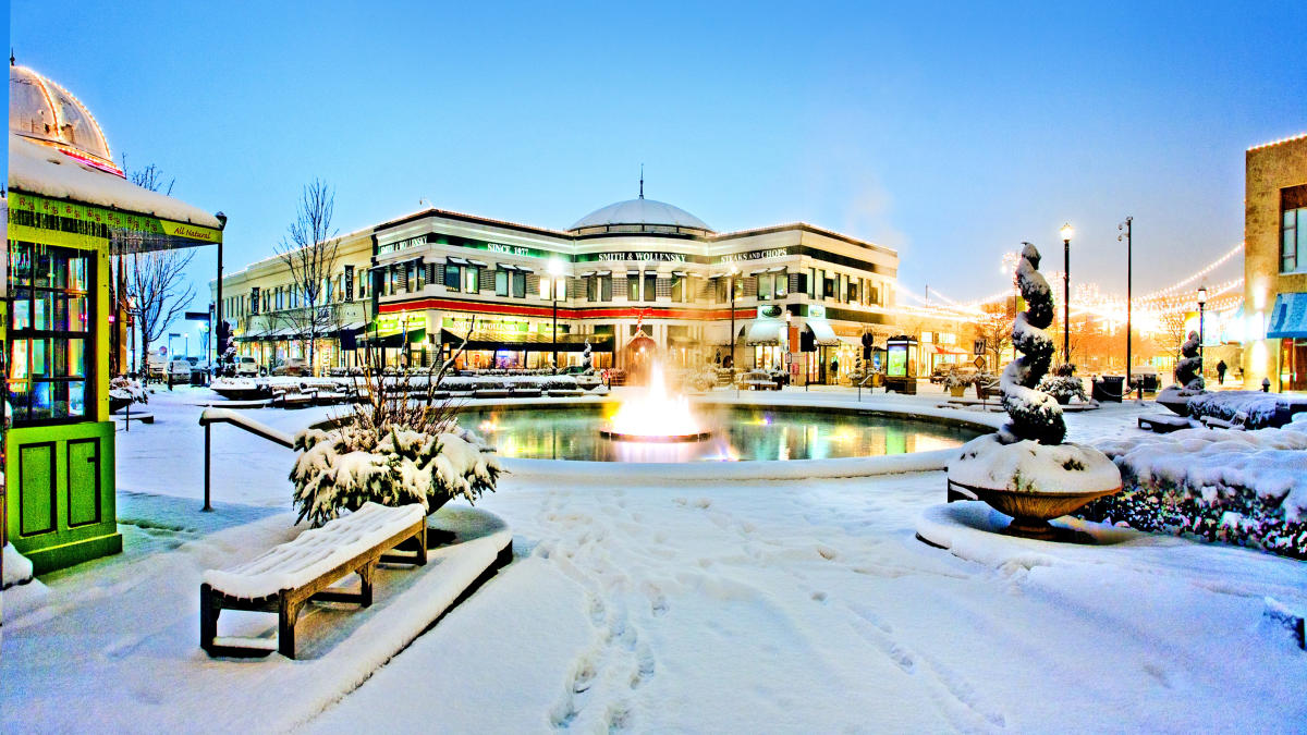 Winter at Easton Town Center