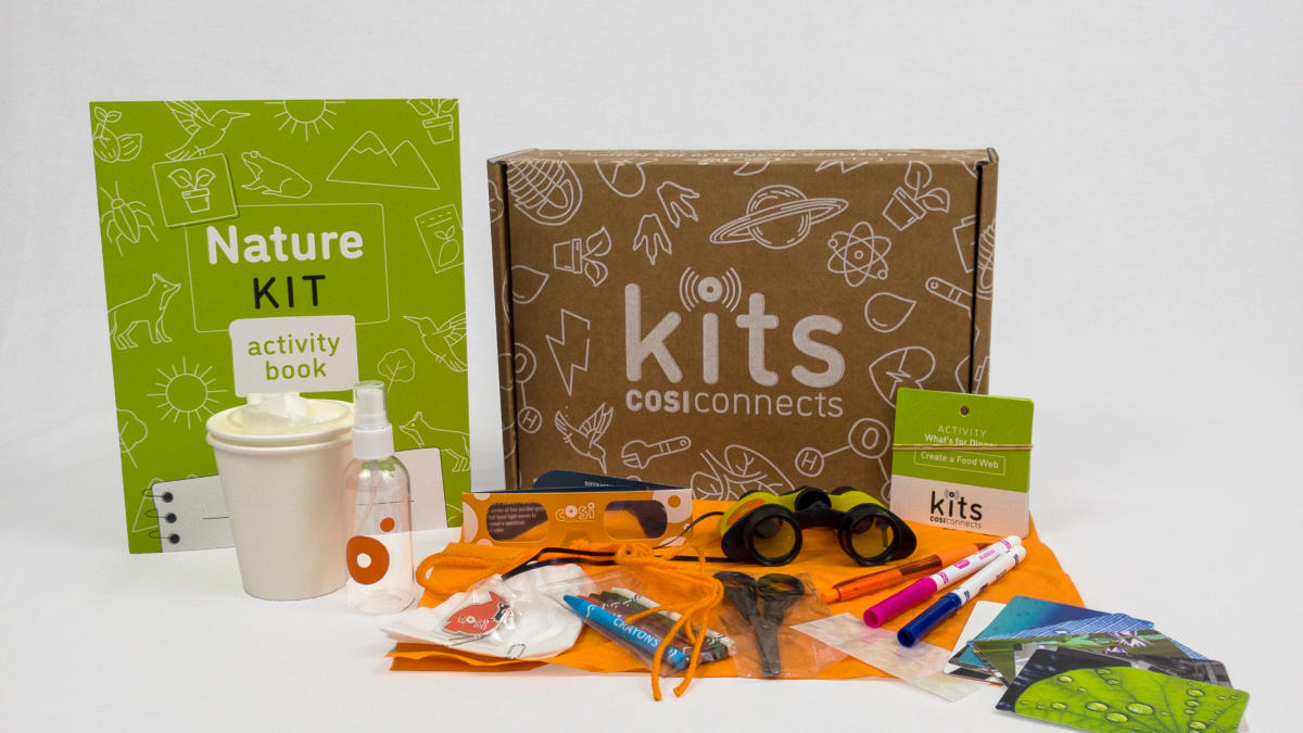 COSI science kits, put together for engagement during the COVID-19 pandemic.