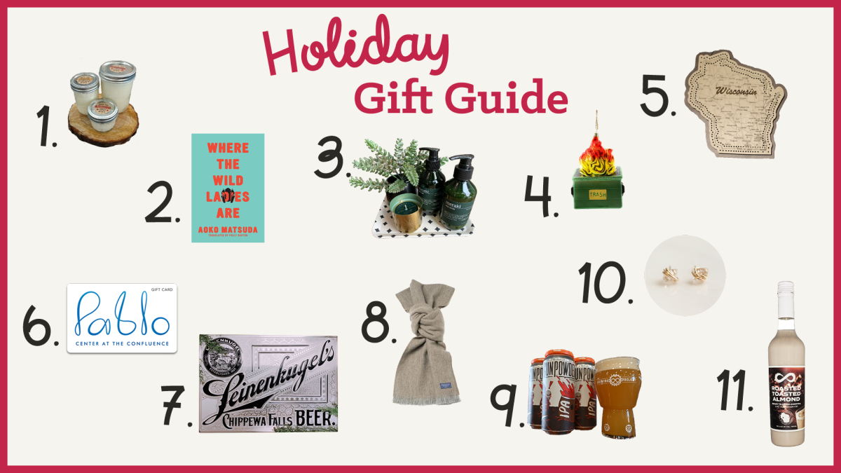 2021 Holiday Gift Guide featuring items from several local businesses