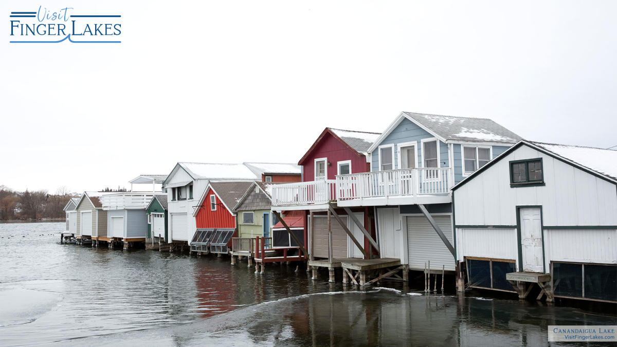 Canandaigua Lake Boat Houses in the Winter