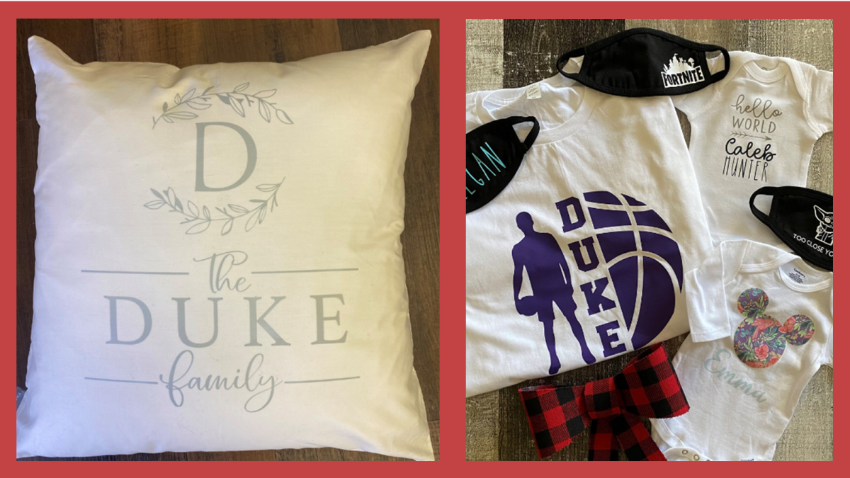 Personalized Tees & pillows