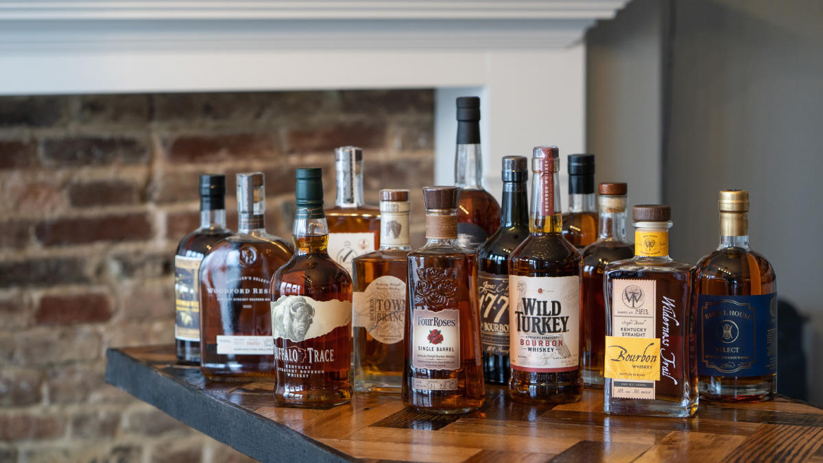 Full Size Bourbon Bottles Background