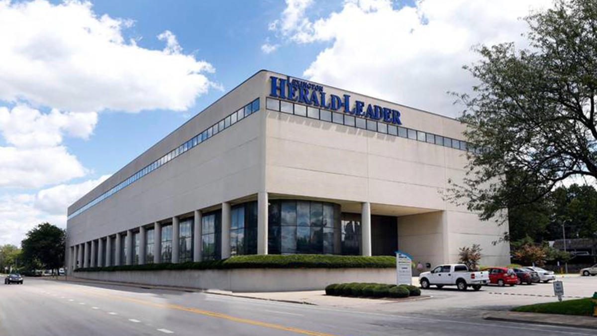 Street view of the Lexington Herald Leader building.