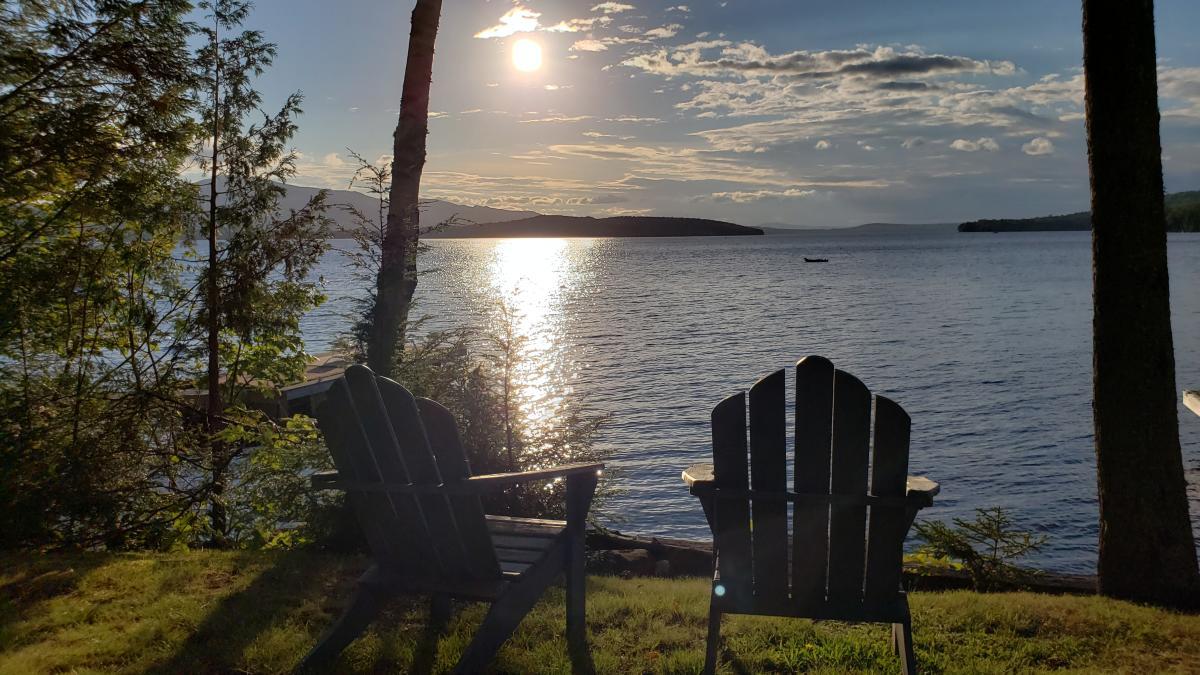 Lakefront Getaway Sunset