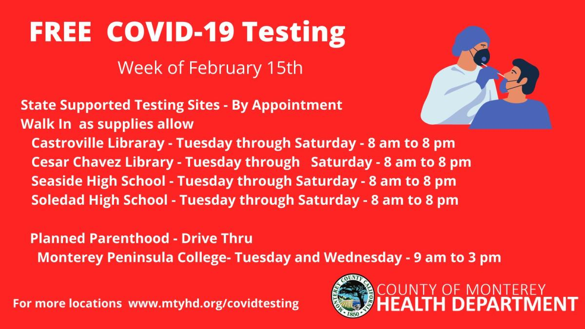 Testing Week Feb 15th