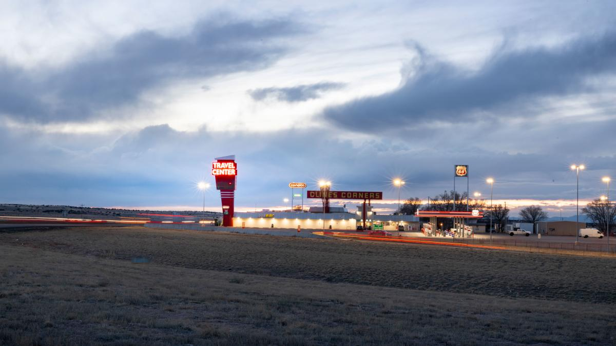 Between Santa Rosa and Albuquerque, Clines Corners stands like a beacon on the prairie.