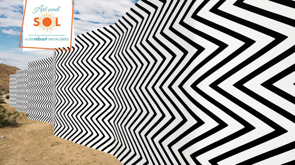 Art mural in the desert