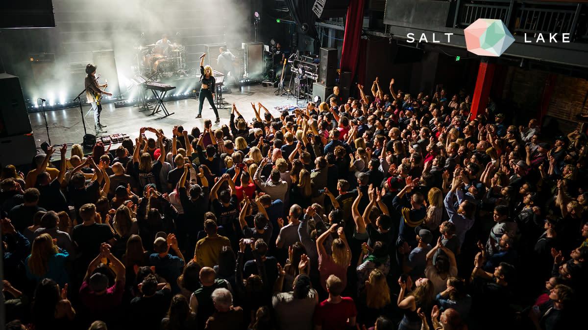 Concert in Salt Lake Zoom background