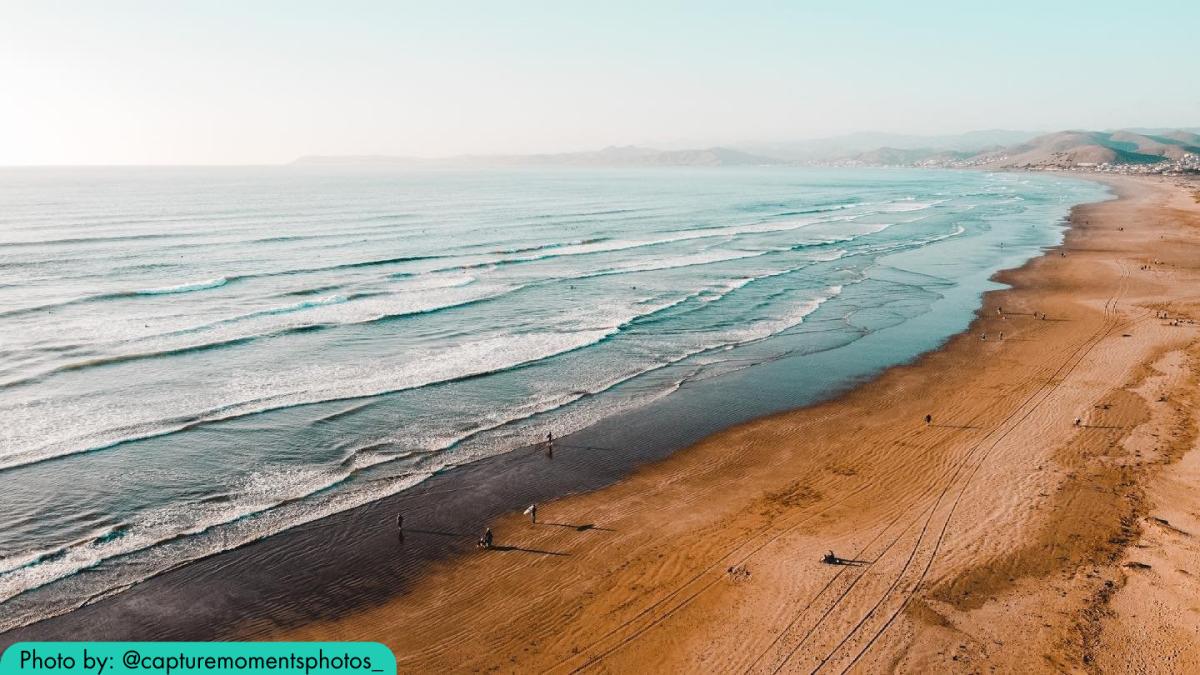 The beach at Morro Strand in SLO CAL