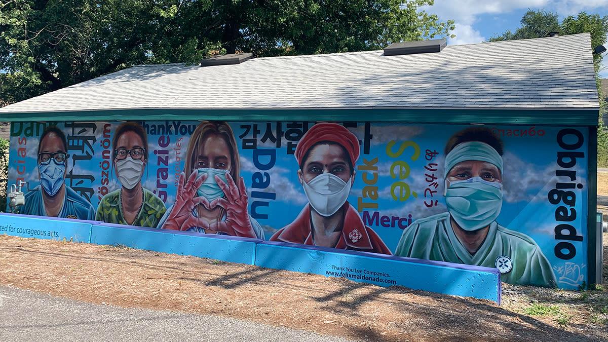 Decay Devils Preservation Ride Through Miller Beach - Felix's Hero mural