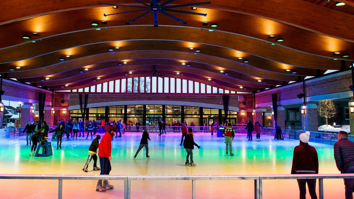 People On The Ice At Valparaiso Ice Skating