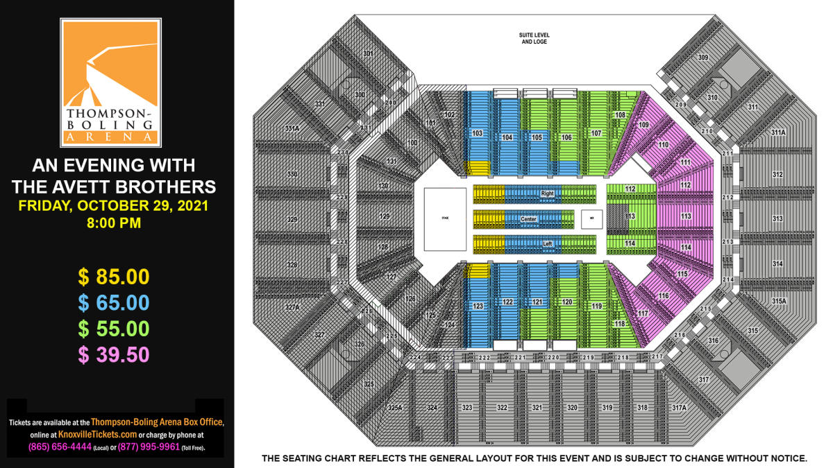 Avett Brothers 2021 Seat Map