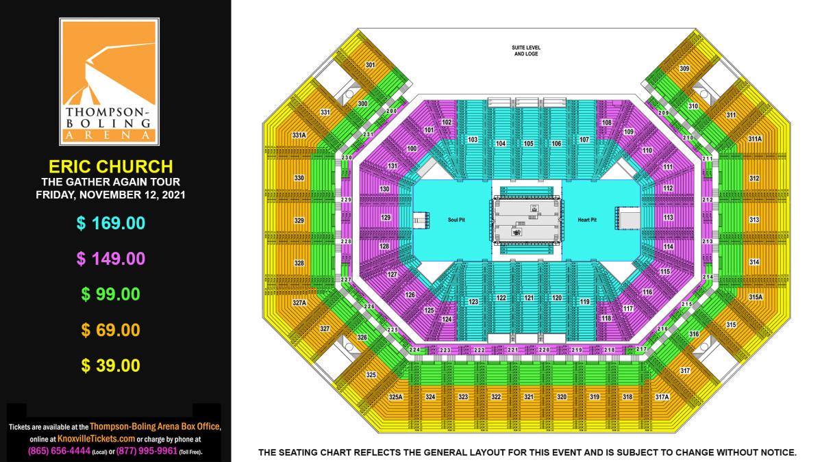 Eric Church Seat Map