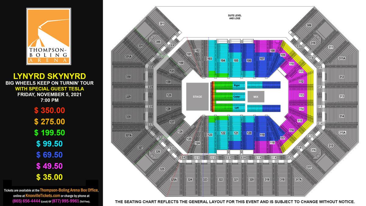 Lynyrd Skynyrd 2021 Seat Map
