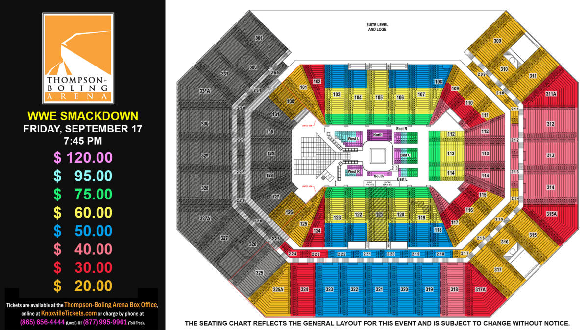 WWE SmackDown 2021 Seat Map