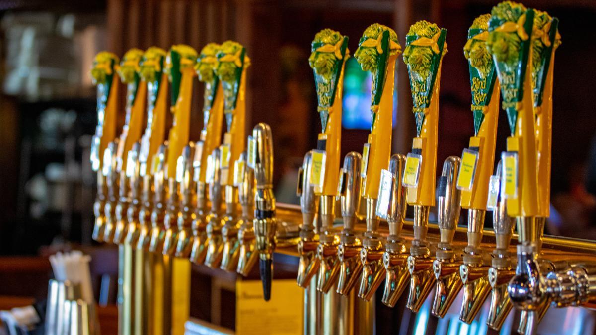 Beer Taps at Blind Tiger Brewery & Restaurant | Topeka, KS
