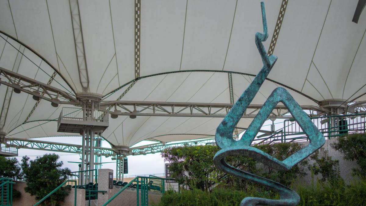 Smokedance Sculpture at The Pavilion