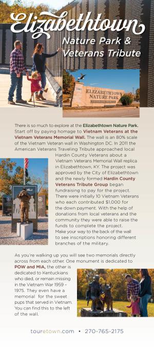 Elizabethtown Nature Park & Veteran's Tribute information