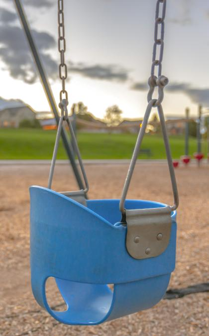 Children's park swing for Aspire Park in McMinnville