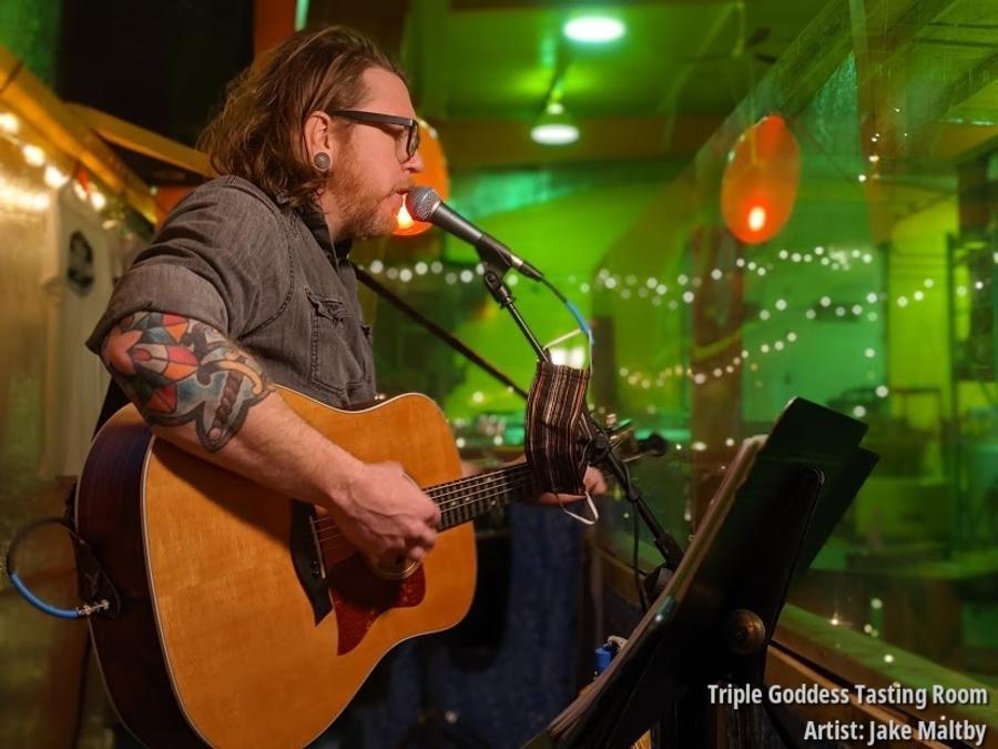 Singer at Triple Goddess Tasting Room