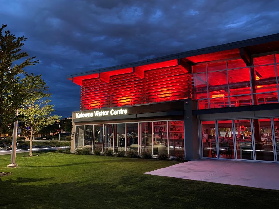 Visitor Centre #LightitRed Campaign