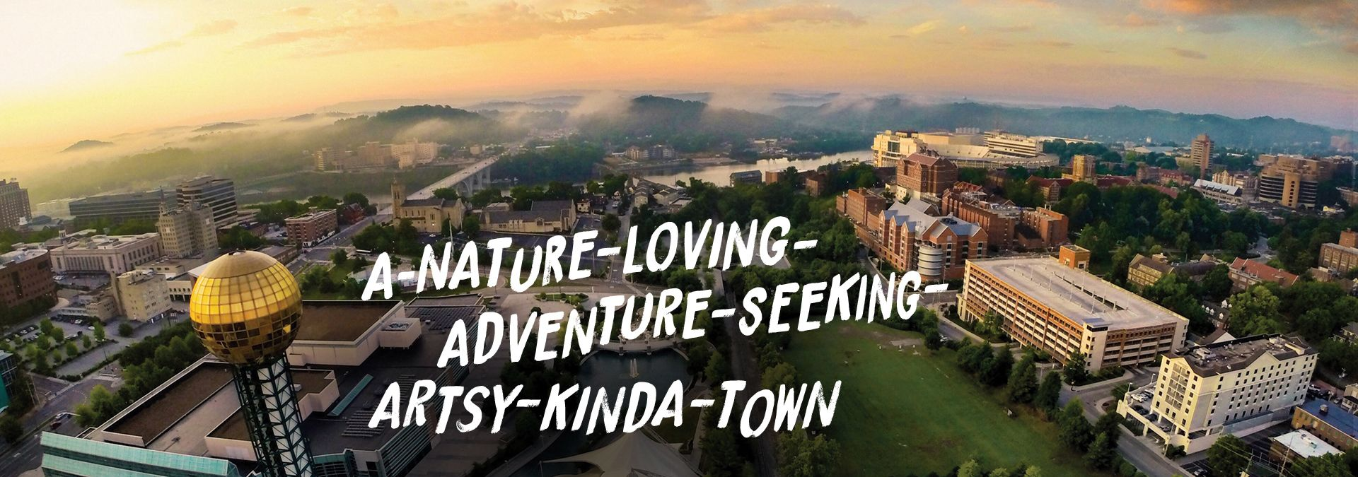 Nature loving adventure artsy town