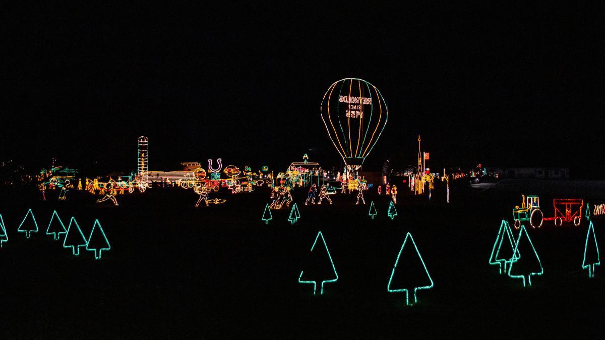 Merry Prairie Light Display