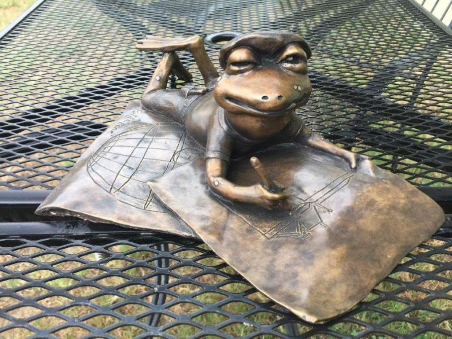Mon Ami Pierre Toad Statue In Bastrop, TX