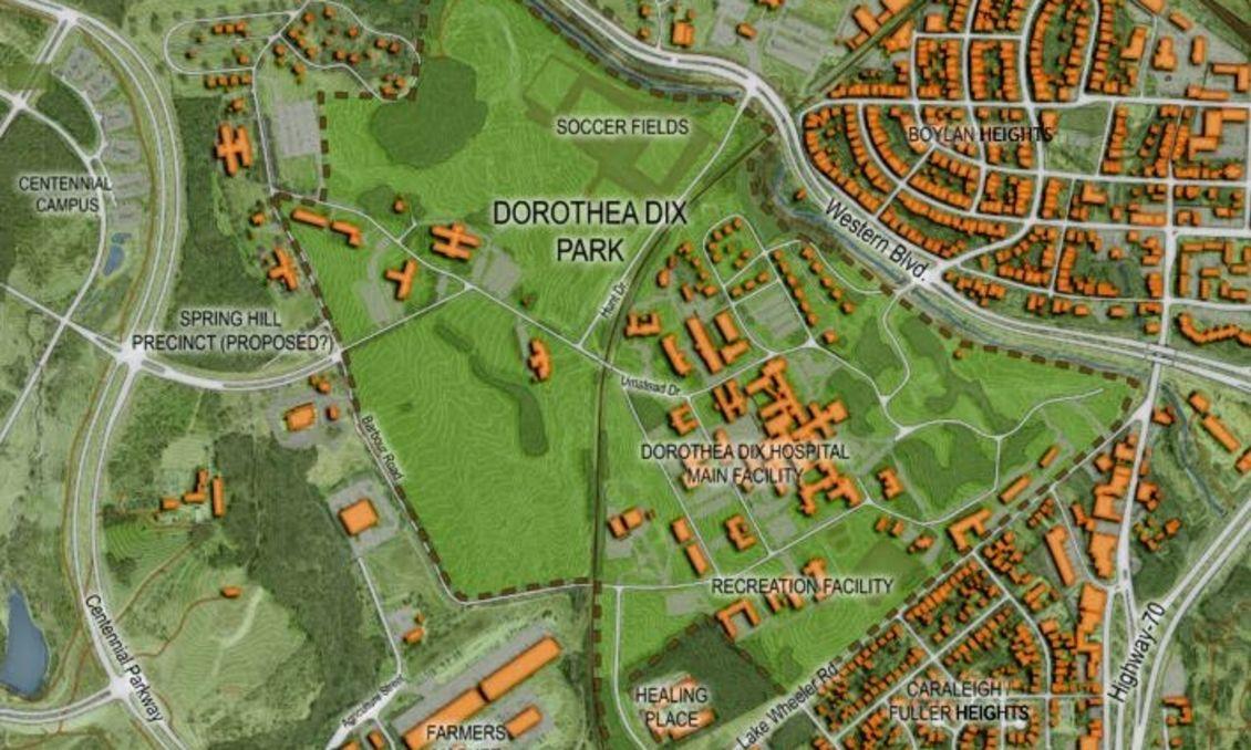 Dorothea Dix Park map